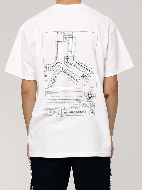 DRAWING PRINT OVERSIZED T-SHIRT  ON THE BACK