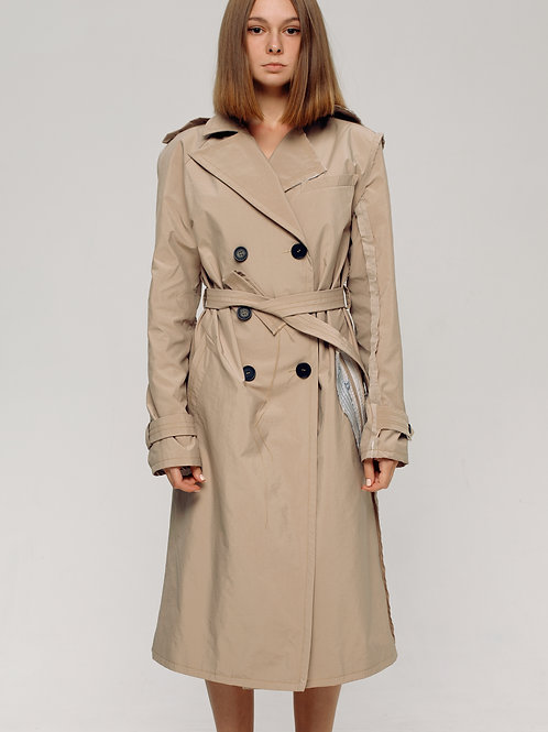 FEMALE DECONSTRUCTED TRENCH COAT