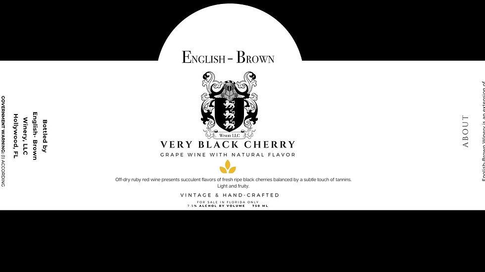 Very Black Cherry Wine