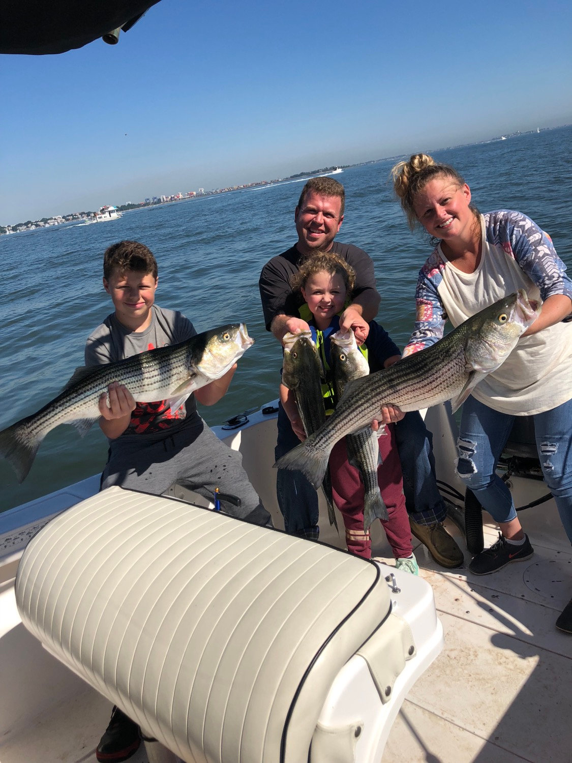 1 pm 1/2 day Striped Bass, 4 anglers