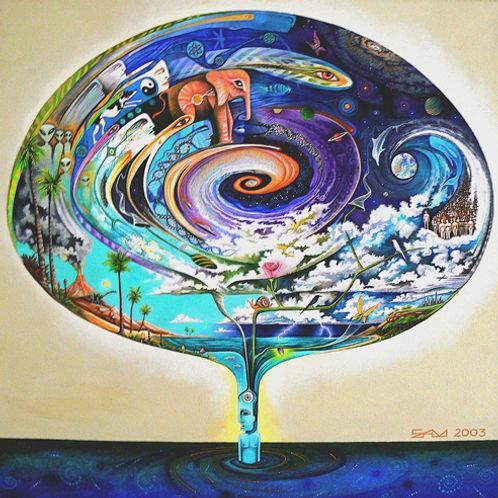 Quantum Spiral - canvas18x18