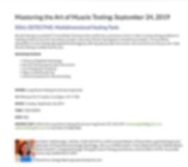 Harriette Mcdonough Muscle Testing works