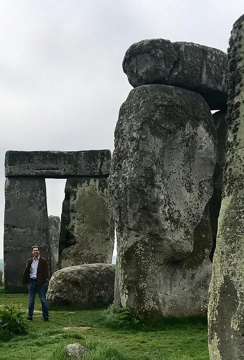 Oliver at Stonehenge
