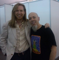 Oliver and Jordan Rudess in South America