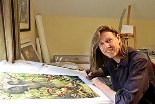 Oliver & Jabberwocky Print