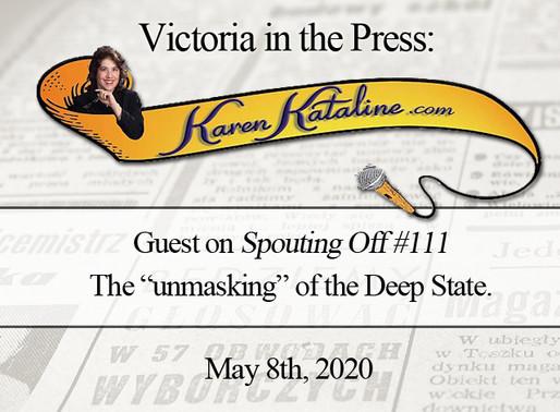 "Interview: Victoria on ""Spouting Off"" with Karen Kataline"