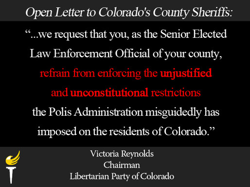 Open Letter to Colorado's County Sheriffs