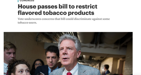 House passes bill to restrict flavored tobacco products