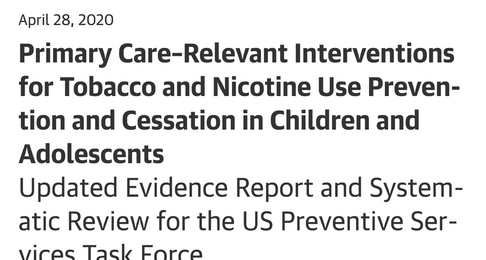 Relevant Interventions for Tobacco and Nicotine Use Prevention and Cessation in Adolescents