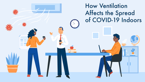 How Ventilation Affects the Spread of COVID-19 Indoors