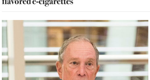 Bloomberg to Spend $160 Million to Ban Flavored E-Cigarettes