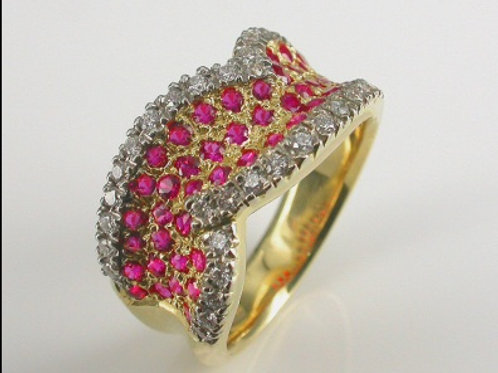 River Ruby and Diamond Dress Ring