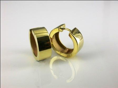 18ct Yellow Gold Hoop Earrings.
