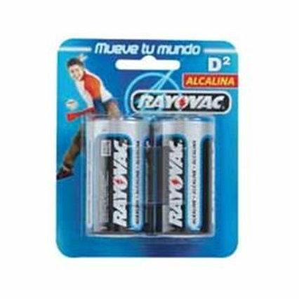 BATERIA D 2 PACK ALKALINA RAYOVAC 012800183173