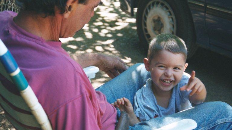 Logan visits Grandpa