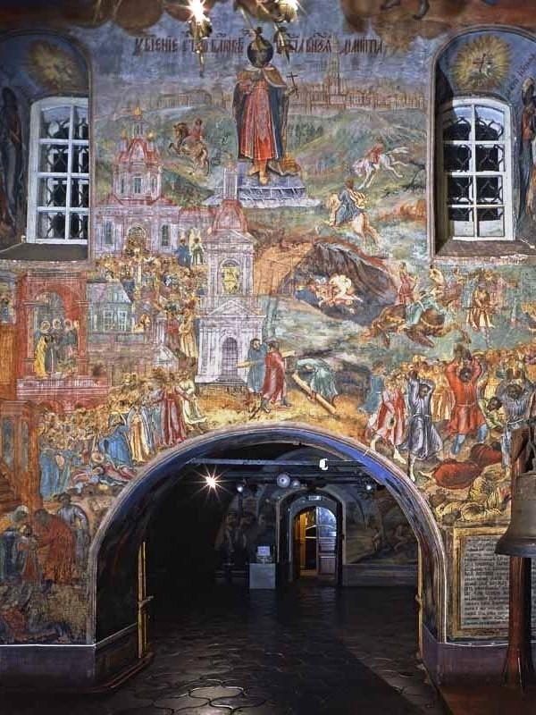 Démétrius sur le sang, tsarévitch Dimitri, reliques, fresques