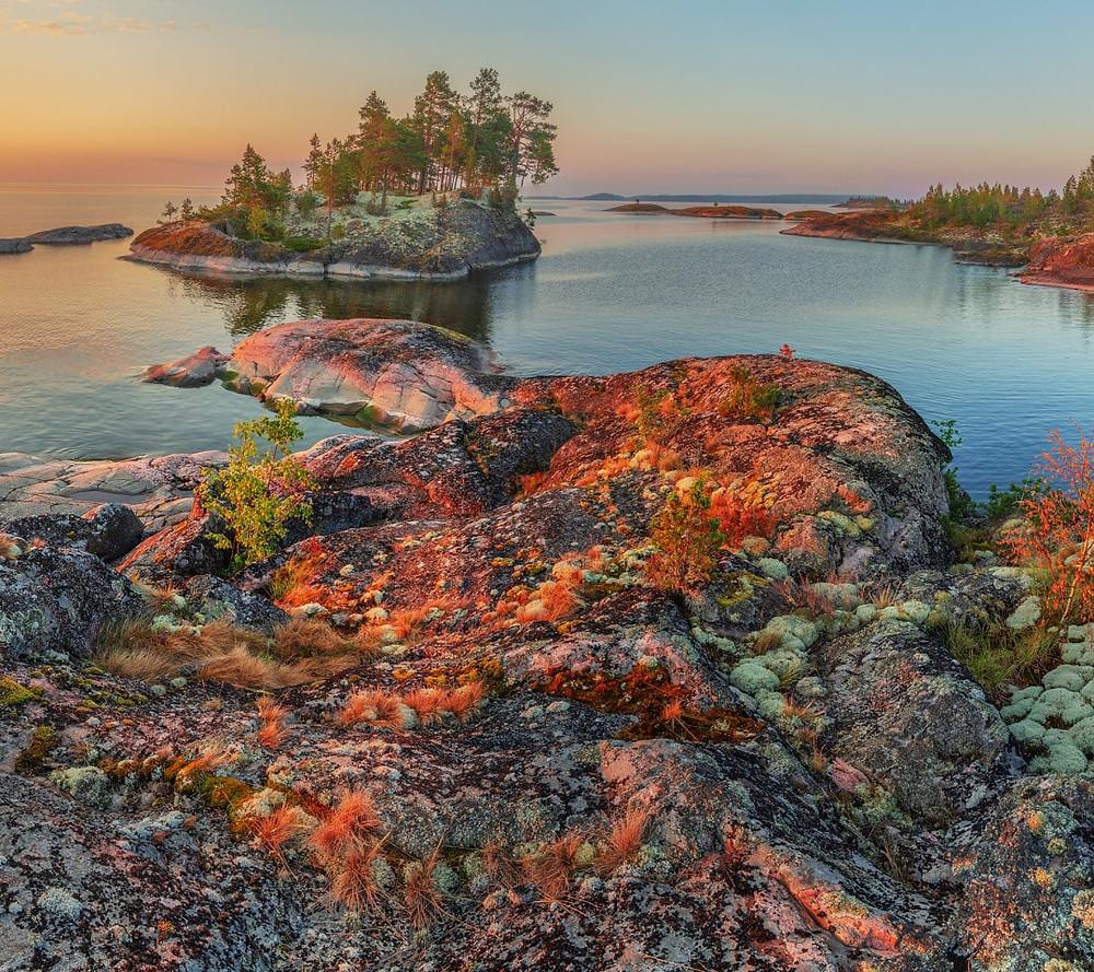 Russie, tourisme, croisière, sol aride, mousses, lichens