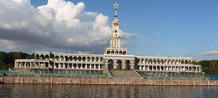 gare fluviale, Moscou, port touristique, bateaux de croisiere