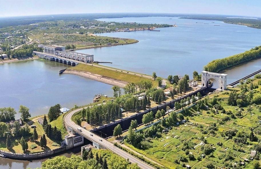 volga, fleuve, centrale hydroélectrique, barrage, barage hydroélectrique