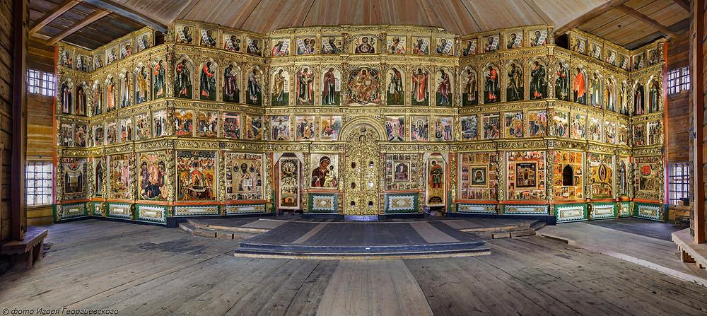 Russie, tourisme, croisière, iconostase, feuilles d'or, icônes