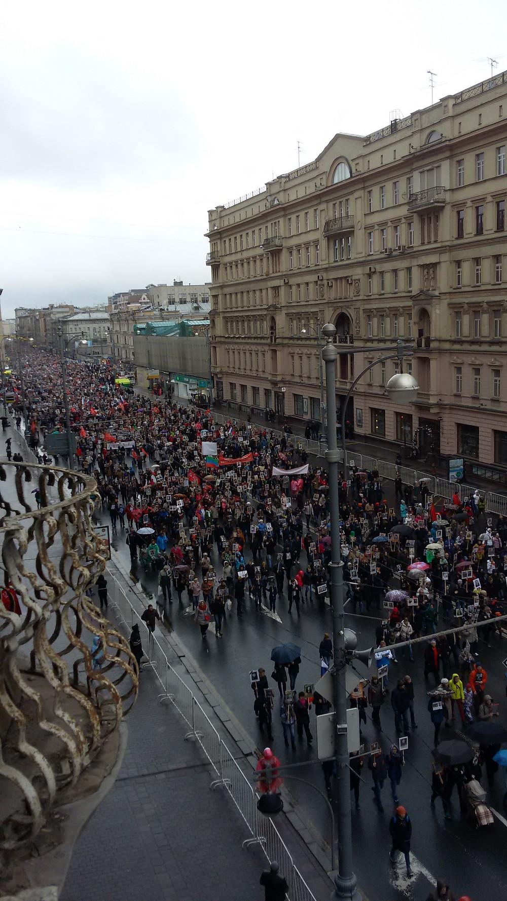 Russie, URSS, Commémorations, défilé, défilé du souvenir, armistice, Ruban de Saint Georges, 9 Mai
