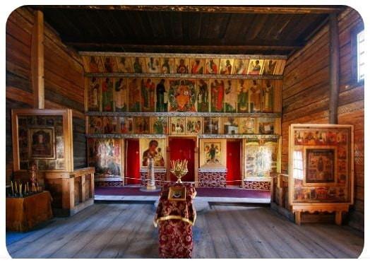 Russie, tourisme, croisière, Eglise de l'intercession, iconostase