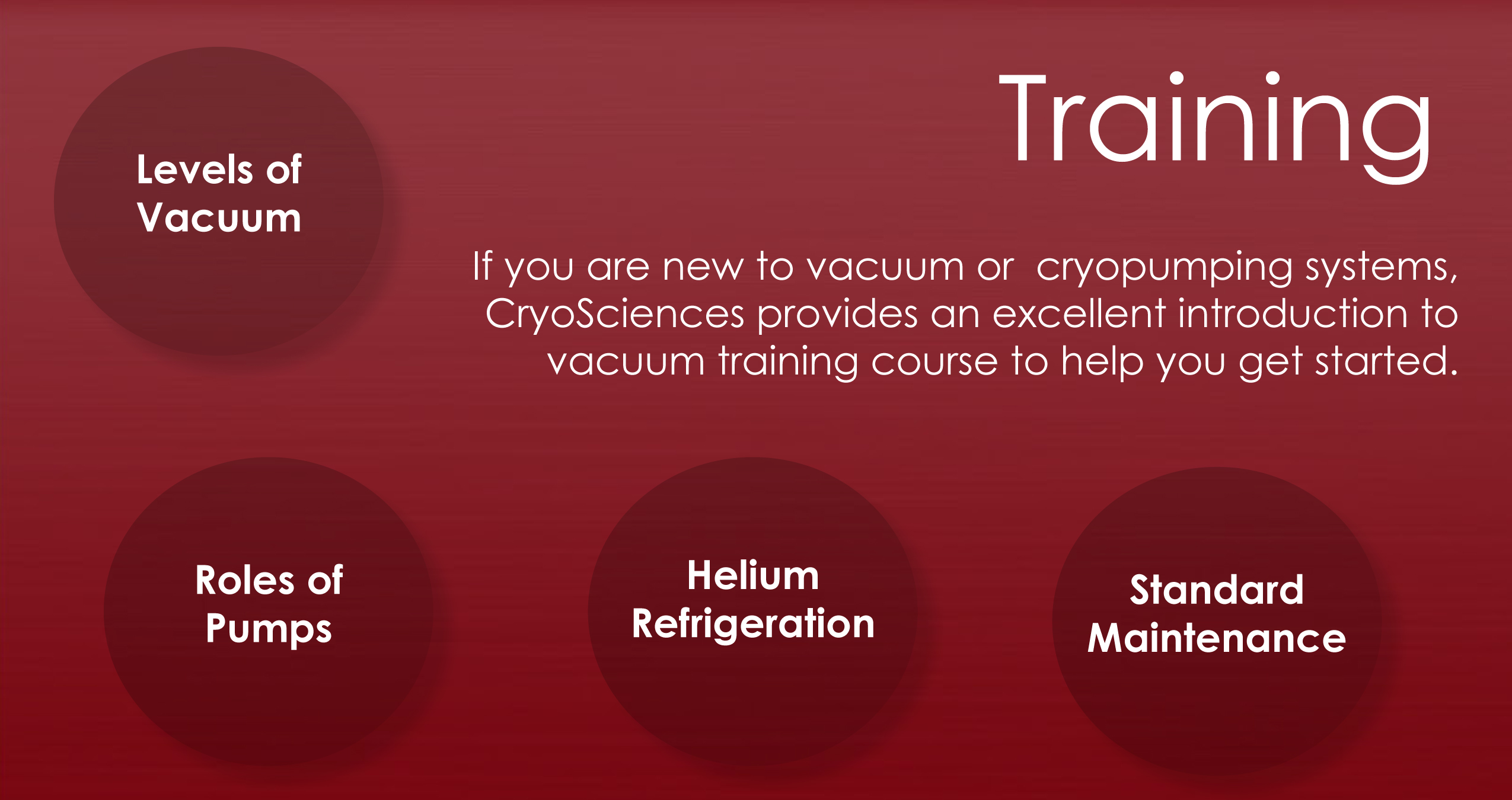Vacuum Tech Training