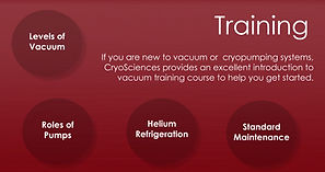 Vacuum Technology Training - Cryopumping Systems