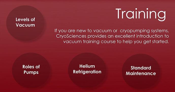 Vacuum Technology Training - Cryopumping - Vacuum Pumps