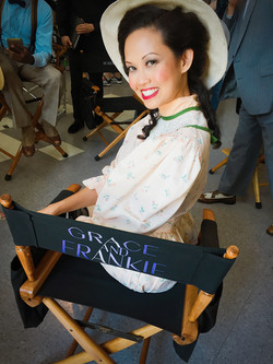 On the set of Grace & Frankie