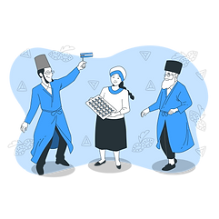 People celebrating Purim day-bro.png