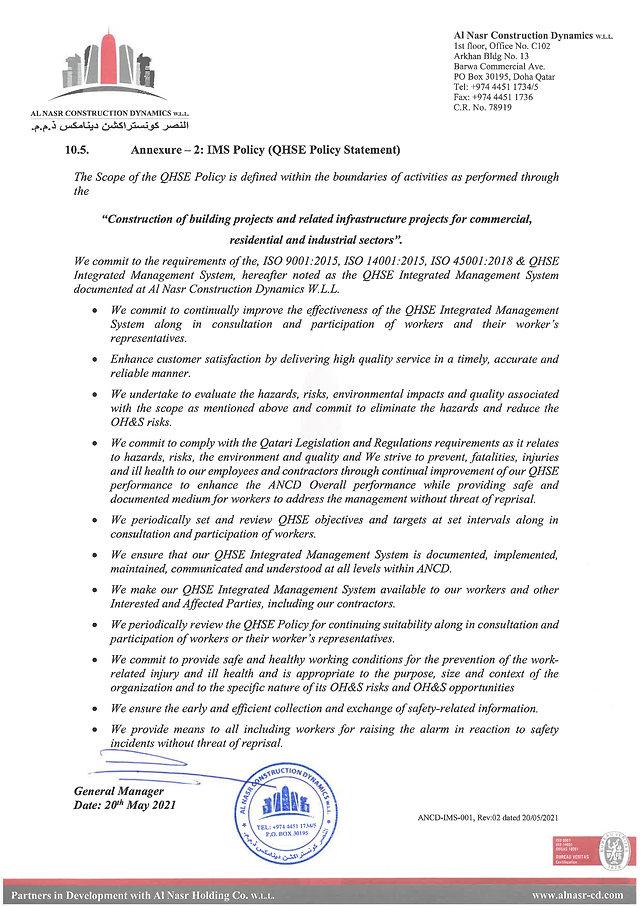 ANCD IMS Policy statement(QHSE Policy).p