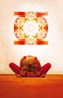 Frau macht Yoga im soulspa la gomera