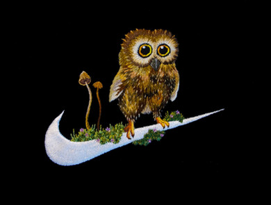 Nike / Baby owl & magic mushroom