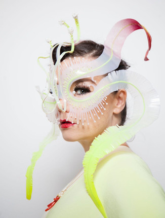 """""""Ghost Orchid"""" headpiece for Björk"""