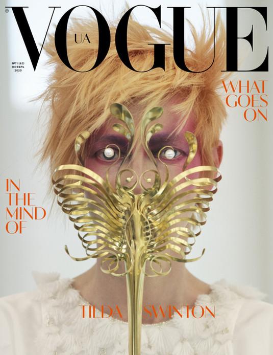 Mask for Tilda Swinton, Vogue Ukraine