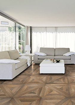 Parquet wood looking porcelain tile