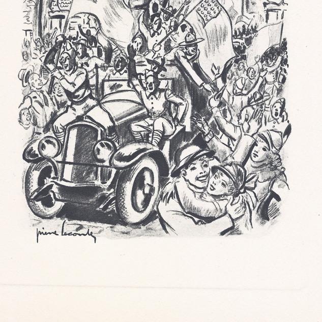 Gravure Libération de Paris