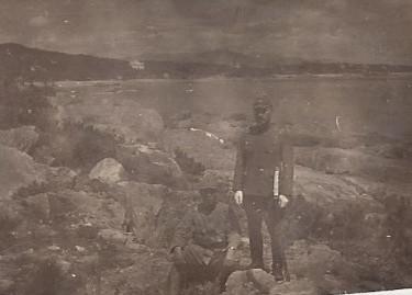 Photographie d'un soldat  japonais  ( probablement un officier) durant la seconde guerre mondiale .