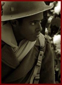 Tirailleur de la 1ère Division Française Libre en Alsace hiver 1944-1945