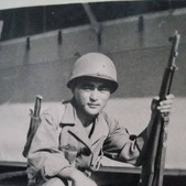 """Authentique photo de ma collection personnelle d'un """" Nisei """" à savoir un soldat nippo-américain du 442ème régiment de combat durant la seconde guerre mondiale"""