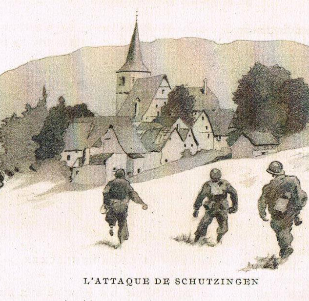 Livre de gravures  sur l'Armée Française en Allemagne en 1945