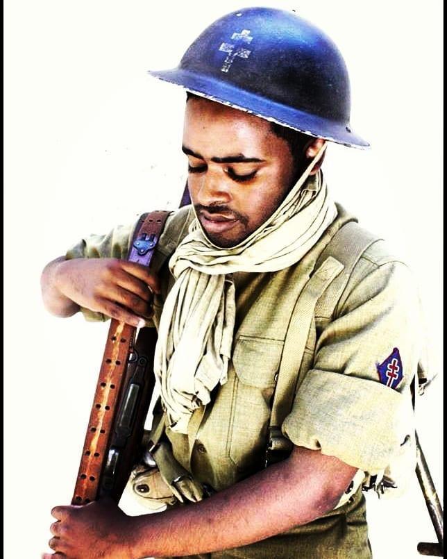 Tirailleur sénégalais de la 1ère DFL Provence Août 1944   [ Reconstitution ]