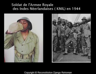 Soldat de l'Armee Royale des Indes Néerlandaises  en 1944