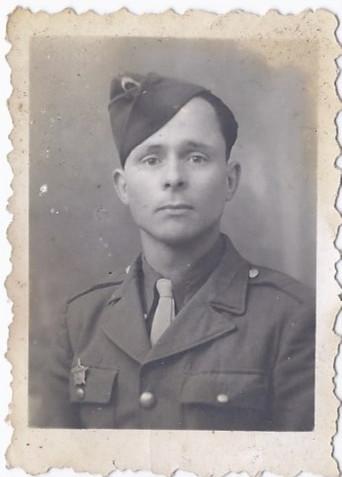 Photo portrait d'un militaire français ,  années 50 .
