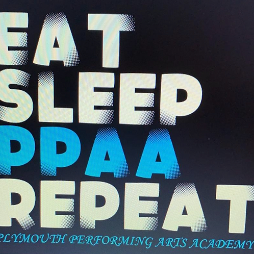 'EAT, SLEEP, PPAA, REPEAT' front printed T-shirt