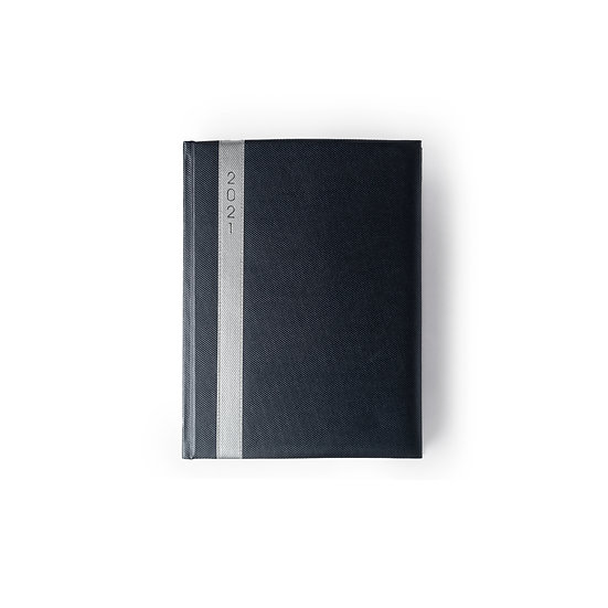 B5 Size One Day to a Page New Year Diary - Saturday/Sunday Separate- Blue