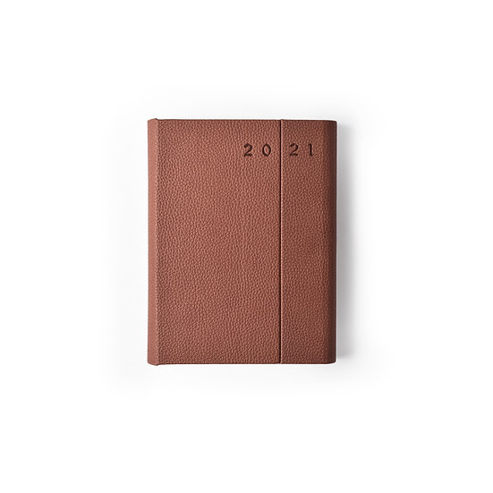 A5 Size - One Day to a Page New Year Power Diary- Tan