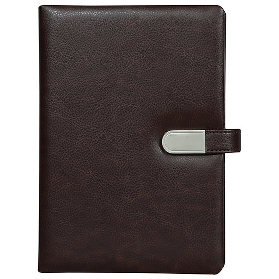 A5 Size Flash Note Book with Magnet Flap (with 16GB Pen Drive)- Maroon