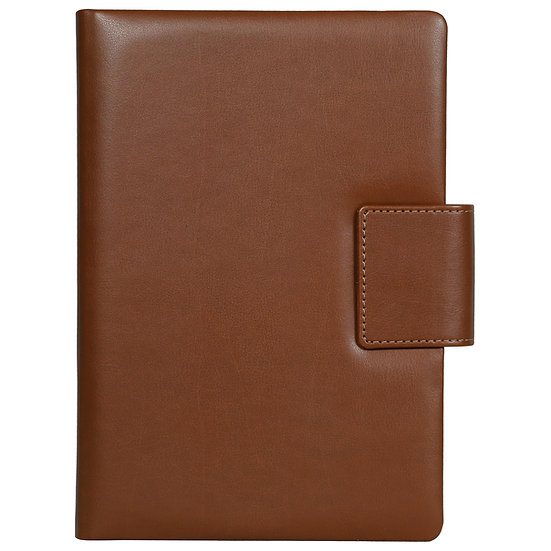 A5 Size Note Book With Magnetic Flap- Tan